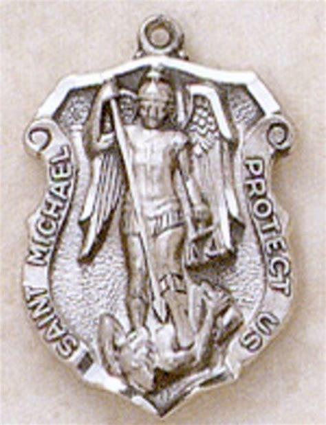St Michael Medal For Officers by Sterling Silver St Michael Officers Medal