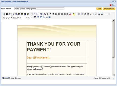 payment confirmation email template event creation registration and payment all in one