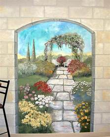 outdoor murals for walls garden mural on a cement block wall colorful flower