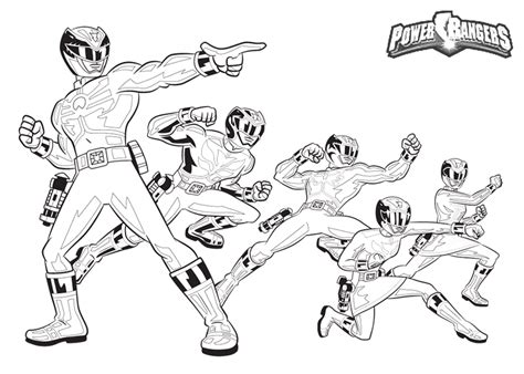 power rangers team coloring pages power ranger coloring pages