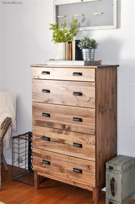 ikea chest how to stain an ikea tarva dresser cherished bliss