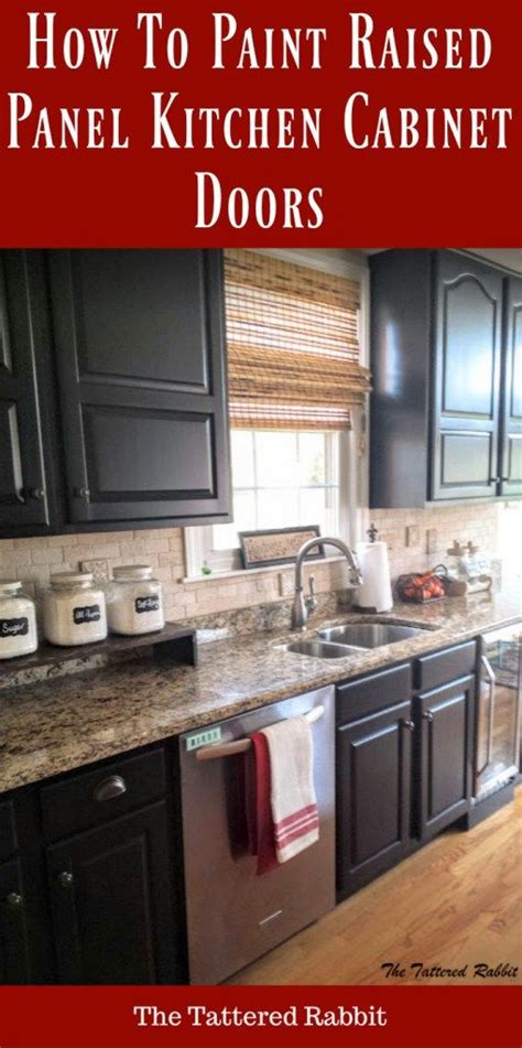 diy kitchen makeover how to paint cabinets inmyownstyle cherry kitchen cabinet makeover black painted kitchen