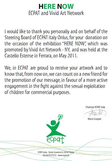 appreciation letter exhibition elisha ben yitzhak receives appreciation letter from ecpat