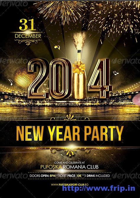 new year bash best 35 new year flyer templates for 2014
