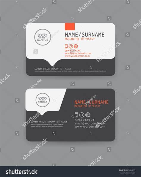 design id card modern vector modern clean business card template flat design