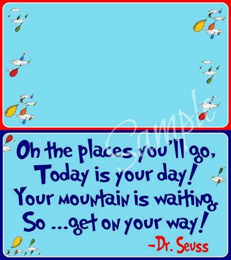 Oh The Places You Ll Go Printables Free