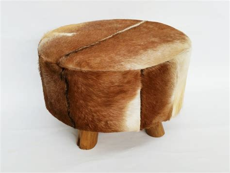 Ottoman Stools Goat Skin Ottoman Stool G D Home Quality Furniture