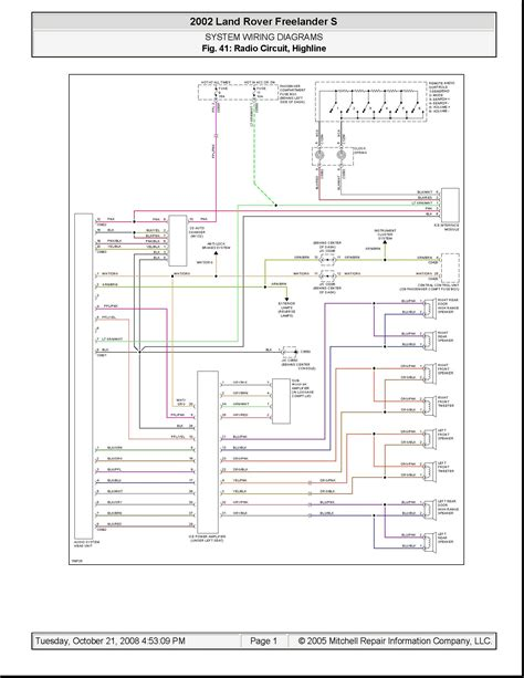 land rover freelander 2003 wiring diagram wiring diagram