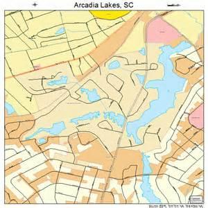 map of carolina lakes arcadia lakes south carolina map 4502125