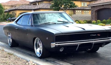 STUNNING 1968 DODGE CHARGER R/T 440 RESTORED MATTE BLACK