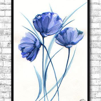 Harry Potter Bathroom Decor Watercolor Painting Watercolor Flower From Artsprint On Etsy