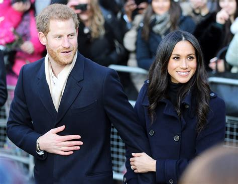 prince harry meghan enthusiastic reporter tries to get meghan markle s