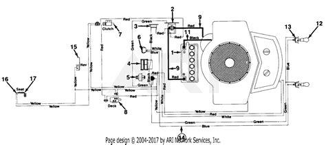 mtd ranch king mdl   parts diagram  electrical