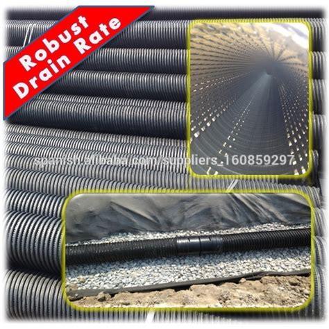 Pipa Hdpe Perforated poroso corrugado perforado hdpe tubo de drenaje de 200 mm