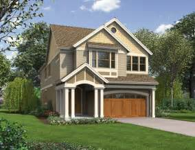House Plans For Narrow Lots With Front Garage Laurelhurst Home Plan Narrow Lots