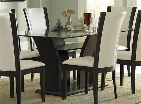 glass dining room furniture homelegance daisy rectangular glass dining set d710 72 at