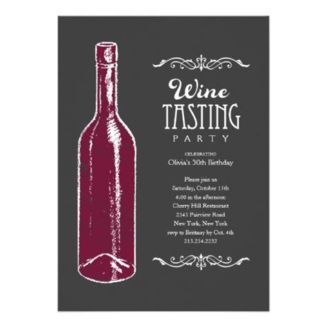 wine invitation template wine tasting invitations 5 quot x 7 quot invitation card zazzle