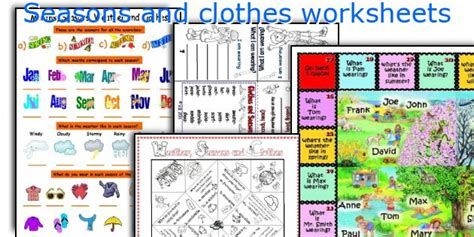 clothes for different seasons worksheet english teaching worksheets seasons and clothes
