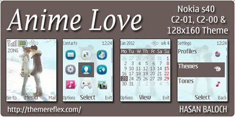 themes love kiss nokia anime love theme for nokia c1 01 c2 00 themereflex