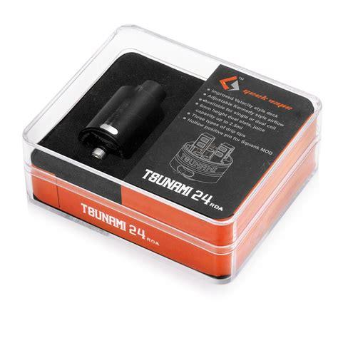 Tsunami 24 Mm Black Authentic authentic geekvape tsunami 24 rda black rebuildable atomizer