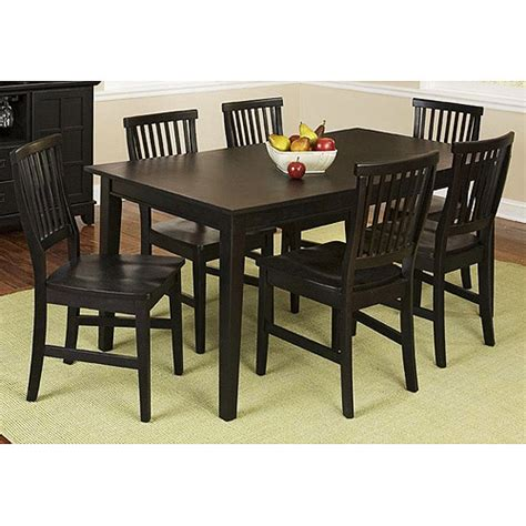 walmart dining room sets home styles arts crafts 5 piece dining set ebony