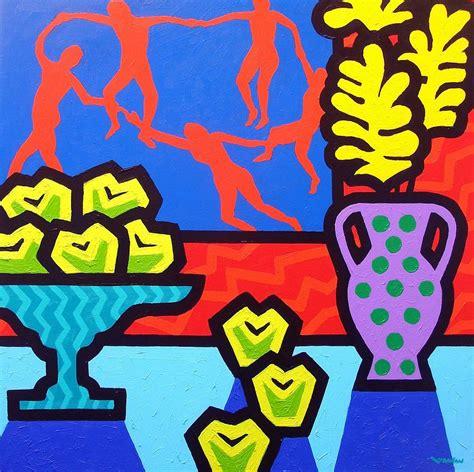 Duvet Cover Modern Still Life With Matisse Painting By John Nolan