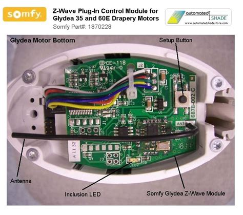 automated shade store somfy glydea zwaveplug in