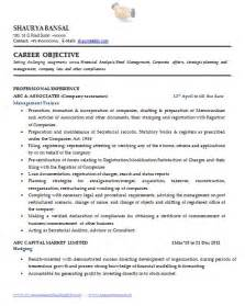 secretarial resume template sle template of an excellent company resume