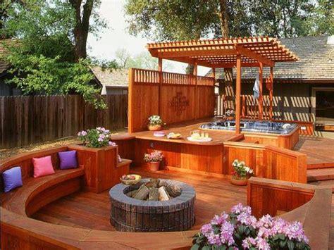 deck fire pit home design garden architecture blog