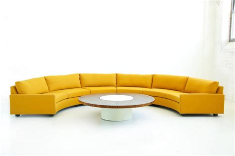 semi circle couch sofa milo baughman semi circle sectional sofa for sale at 1stdibs