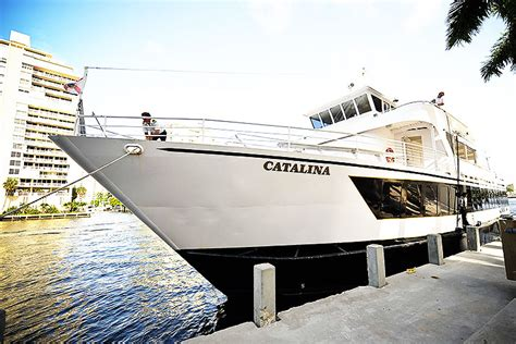 dinner on a boat miami catalina 130 foot long party boat in miami holds 250 guests