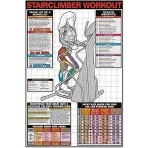 What Muscles Do Stair Steppers Work by Stair Climber Workout Laminated 24 X 36