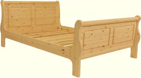 Handmade Pine Beds - handmade pine sleigh bed single