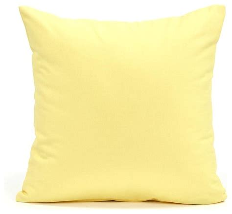 Accent Pillows Solid Yellow Accent Throw Pillow Cover 20 Quot X20 Quot Modern