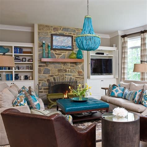 Turquoise Living Room Decor by Remarkable Decorating Turquoise Brown Decorating Ideas
