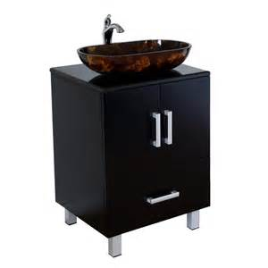 Lowes Vanity For Vessel Sink Shop Bellaterra Home Black Single Vessel Sink Bathroom