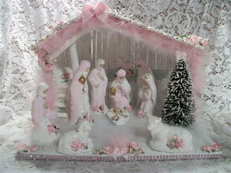 shabby chic nativity set pastel christmas pinterest