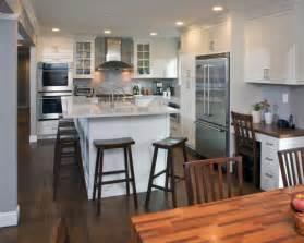 Creative Design Home Remodeling inspiration for a transitional l shaped open concept kitchen remodel