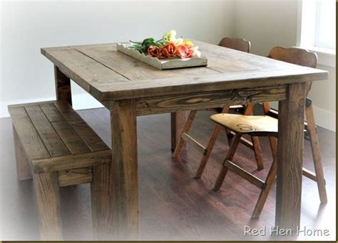 Dining Room Table Diy Plans Diy Dining Room Table With 2 215 8 Boards Woodworking