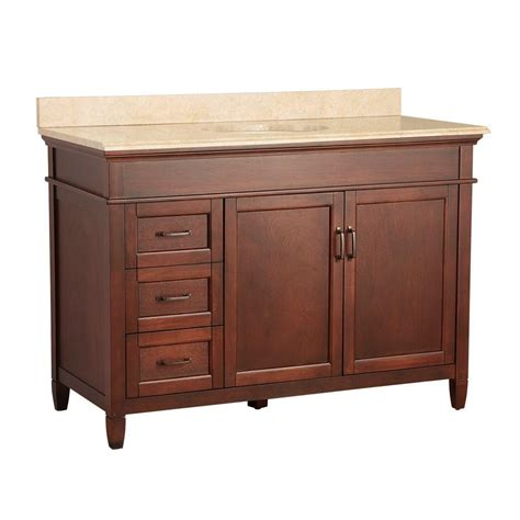 home depot granite bathroom vanity foremost ashburn 49 in w x 22 in d vanity in mahogany