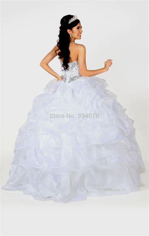 white quinceanera dresses with rhinestones Naf Dresses
