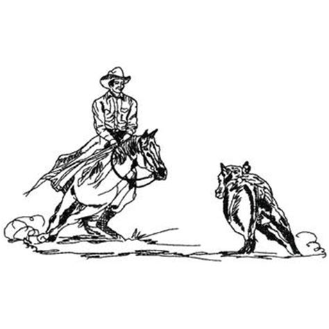 cutting horse coloring page cutting horse outline embroidery design annthegran