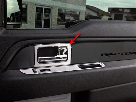 2013 F150 Interior Accessories by Ford F150 Raptor Door Handle Pull Plates 4pc Brushed 2010 2014