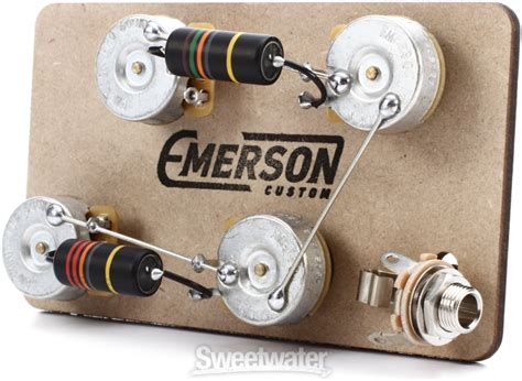 emerson custom les paul prewired kit shaft wiring