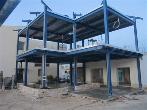 House Structure Metal Structure House In Athienou 4 App Steelbase