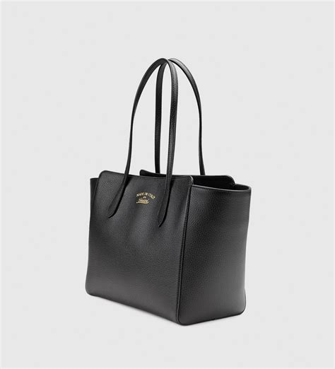 Fendi Woven Tote Supporting American Forests by Gucci Swing Leather Tote In Black Lyst