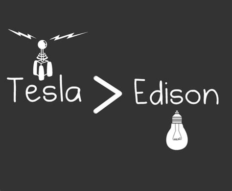 Edison Vs Tesla War Of Currents On