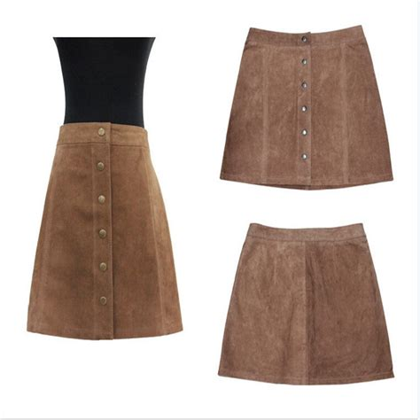 popular brown leather skirt buy cheap brown leather skirt