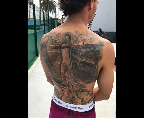 leroy sane tattoo manchester city star gets crazy ink of