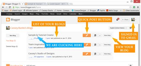 blogger dashboard create a new post on blogger cassey s designs
